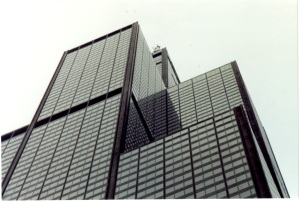 110-story Sears Tower (now the Willis Tower) in Chicago, designed by SOM